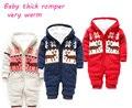 2015 бросился детская одежда мультфильм теплое с капюшоном комбинезон детские малышей ползунки зима дети дети комбинезоны - костюм