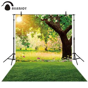 Image 2 - Allenjoy צילום רקע יער אביב שמש דשא פרח רקע שיחת וידאו תמונה סטודיו נכס