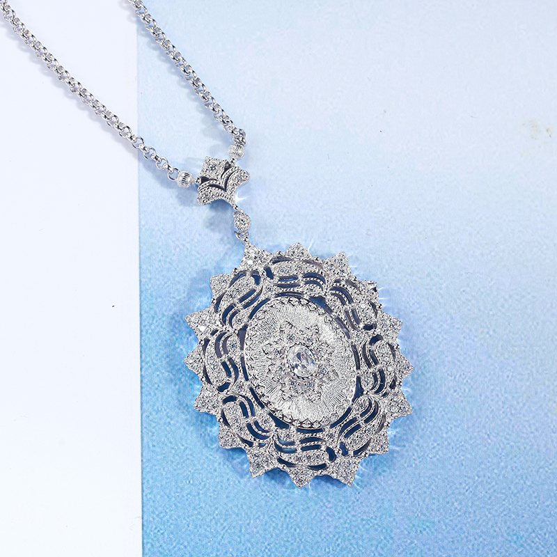 925 Sterling Silver zircon Necklace Sliver 925 Jewelry For Women European Court Style vintage style925 Sterling Silver zircon Necklace Sliver 925 Jewelry For Women European Court Style vintage style