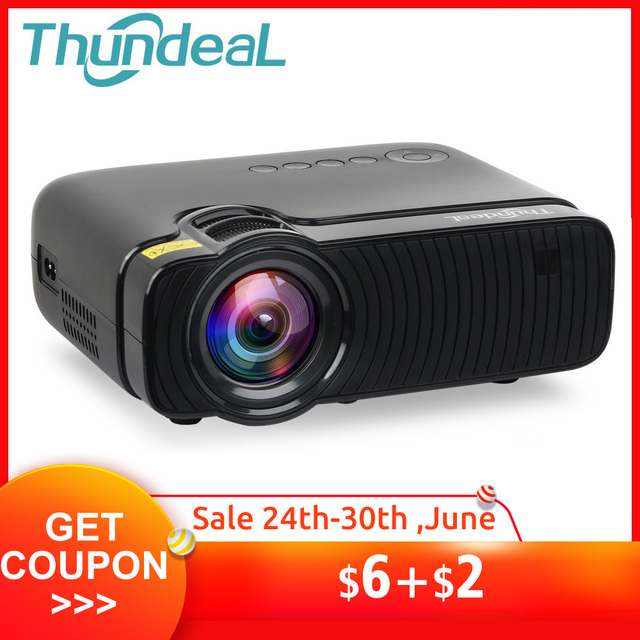 ThundeaL TD30 Max Projector 1280*720 Optional Android 6.0 WiFi Bluetooth 4K Mini LED Projector 2400Lumens Video 3D HD Proyector
