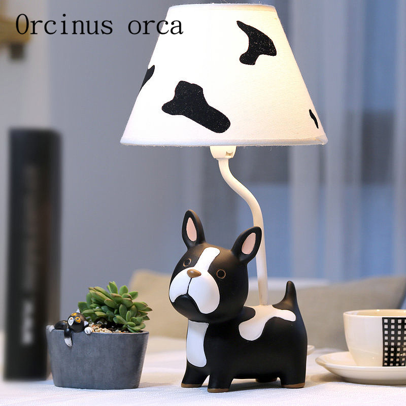 Children bedroom lamp dimming cute puppy creative method of fighting children bedroom lamp dimming cute puppy creative method of fighting dogs bedlamp birthday gift postage free in table lamps from lights lighting on mozeypictures Image collections