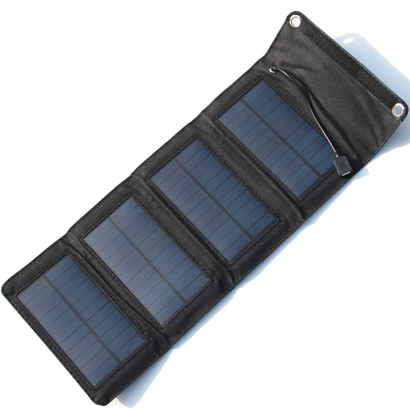 7Watt 5.5V USB Portable Solar Battery Charger Panels High Quality Folding Mono Solar Panel Mobile Cell Phone Power Bank Charger