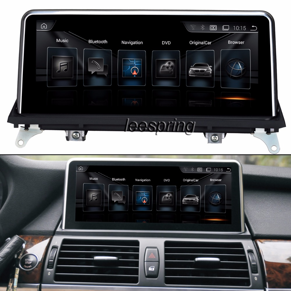 10 25 Touch Android Intelligence font b Car b font Multimedia Player for BMW X5 E70