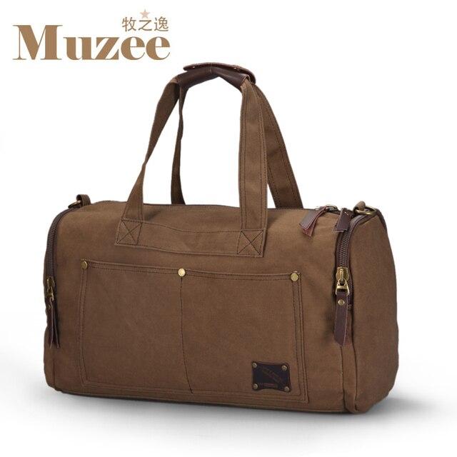Muzee bolsa de viaje de gran capacidad de la lona del viaje del equipaje de mano de los hombres bolsas de lona bolsas multifuncionales bolsas de viaje de fin de semana