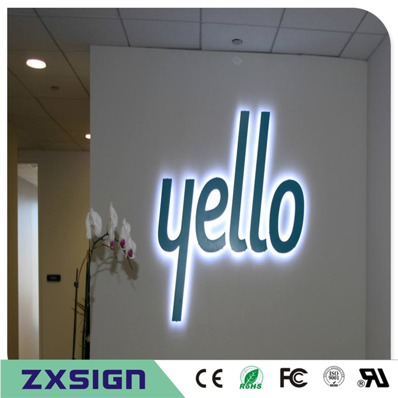 Custom Stainless Steel Led Signs For Business,backlit Outdoor Shop Signs, Backlit Sign Panels