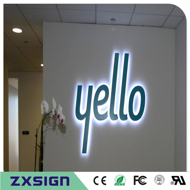 US $1 49  custom stainless steel led signs for business,backlit outdoor  shop signs, backlit sign panels-in Electronic Signs from Electronic  Components