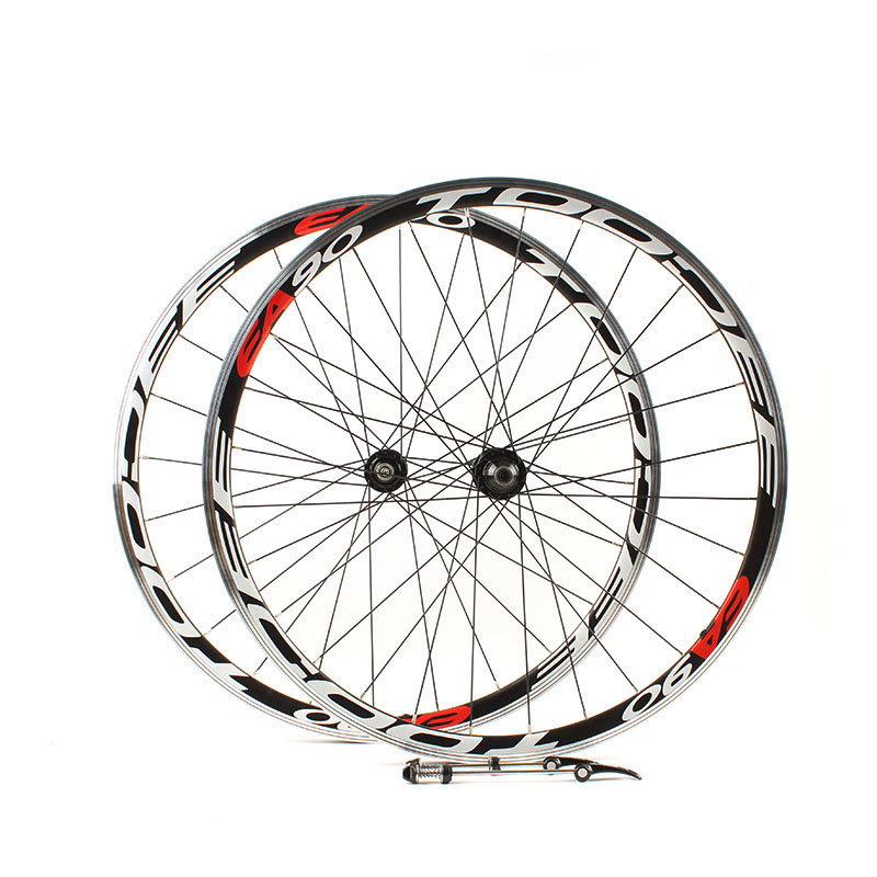 все цены на Road bike 700C wheelset racing wheels 700C road wheels Peilin Ka formula two front and rear hubs Bearing wheels