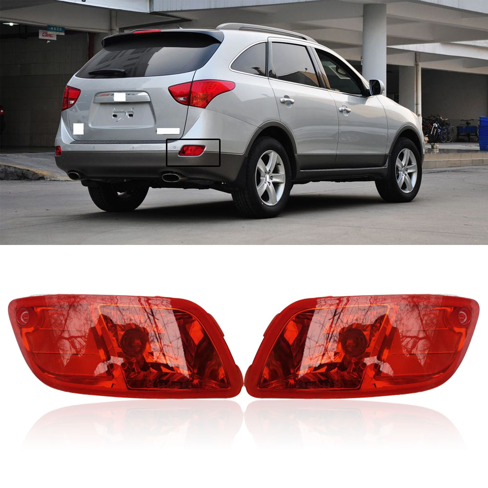 capqx 1pcs for hyundai veracruz 3 8 2007 2008 2009 2010 2012 rear bumper brake light [ 1000 x 1000 Pixel ]