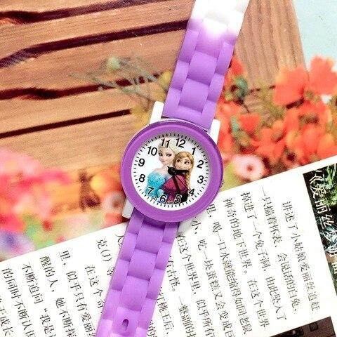 Children Watch Cartoon Princess Elsa Child Watches Candy Cute Color Anna Kids Clock For Girl Student Gift Wrist Watches Joven Karachi