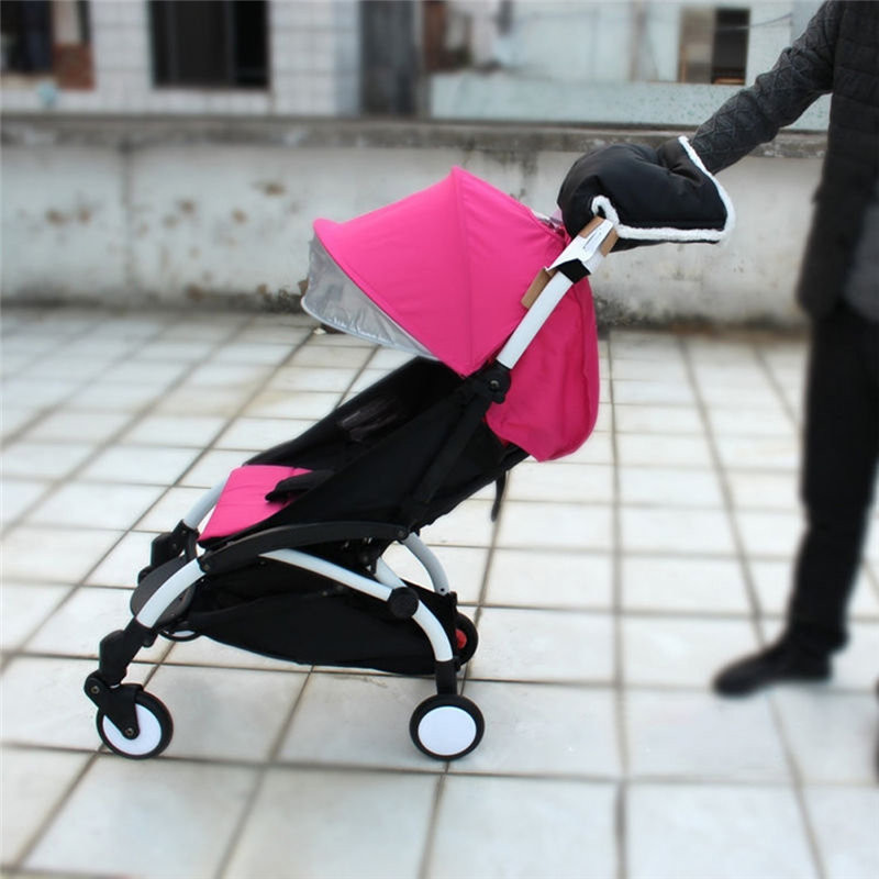 Babyzen Yoyo Stroller Gloves Accessories Warmer Hand Muff Winter Baby Buggy Pushchair Waterproof Clutch Cart Thick Fleece Gloves in Strollers Accessories from Mother Kids