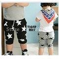 Горячая распродажа конфеты Size100 ~ 140 детей брюки для мальчиков брюки девушки звезды мода черный серый дети свободного покроя брюки