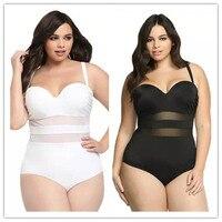 XL 4XL 2017 Hot Plus Size Bikini Sexy Mesh Swimsuit Big Size Swimsuit Swimwear Large Size