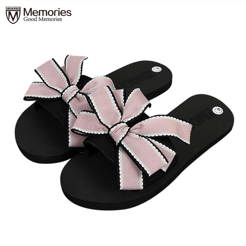 Woman Sandals Bow Lace Summer Women's Sandals 2018 New Fashion Bow Flat Flip Flops Beach Causal Outdoor Flats Slippers Sexy Gift new 2017 summer style outside flip flops fashion slippers beach flat shoes woman sandals snake sandalias fashion slippers free