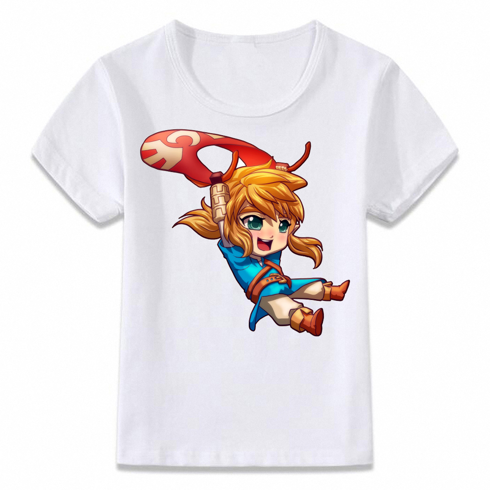 Kids Clothes T Shirt Breath of The Wild Link Wake Up Legend of Zelda  T-shirt for Boys and Girls Toddler Shirts