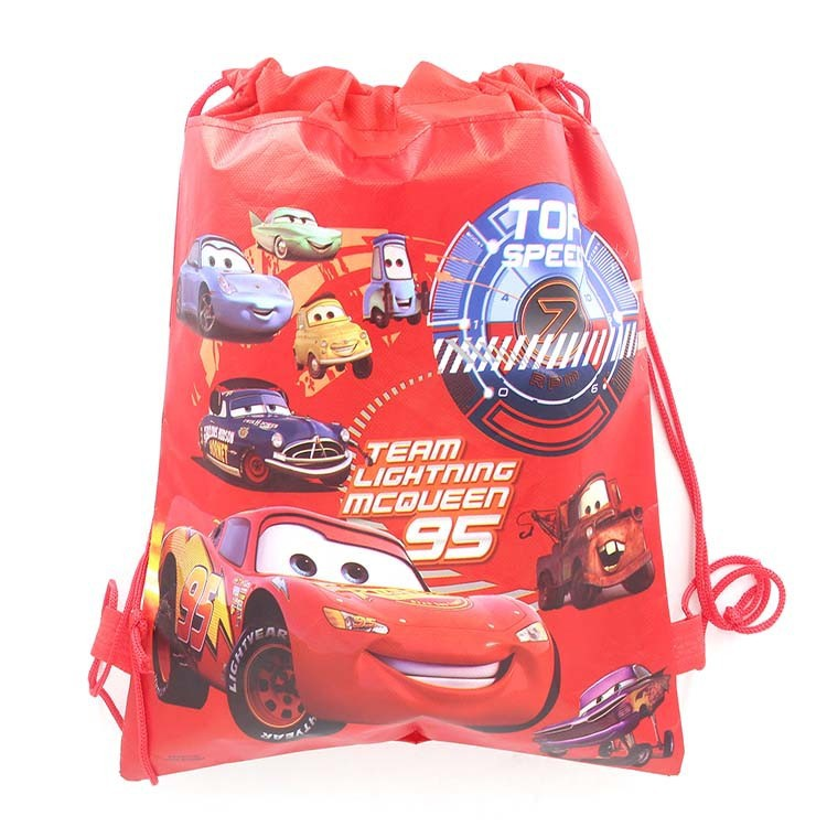 8pcs Lighting Mcqueen Cars DISNEY Children School Bags Backpack Boy Bag Party Supplies Bag Beach Birthday Party Gift Bag