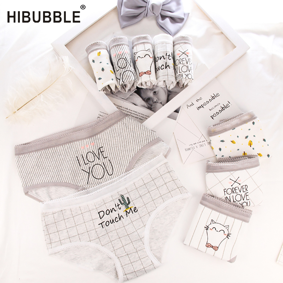 Cotton Panties For Women Lattice Letters Print Women Underwear Women Lingerie Sexy Panties Briefs Underpants Kawaii Panty Tanga