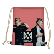 ThiKin Marcus And Martinus Drawstring Bag Men 3D Anime Print Casual Small Bagpack Gym Sack Rucksack Picnic Bag Storage Bag