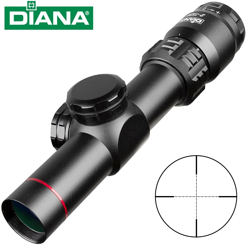 2-7x20 HD Riflescope Retículo Mil Dot Vista Rifle Scope Sniper Escopos de Caça Tático Rifle Scope Airsoft Armas de Ar Comprimido