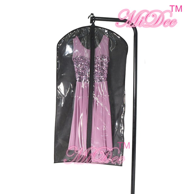 Midee Foldable Dust Proof Hangup Garment Bag Black Zipper Up Whole Dance Costume Bags Hanging