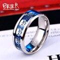 Beier nueva tienda rock simple anillo de la cola anillo de calavera anillo de acero inoxidable 316l para los hombres/mujeres del motorista anillo de moda joyería br-r080