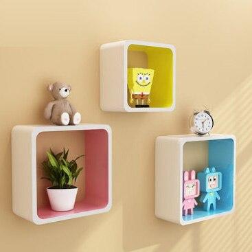 2016 european style wood grid shelf creative wall hanging shelf ...