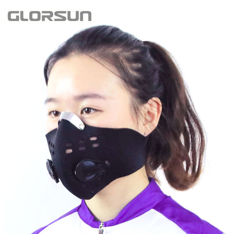 GLORSUN Custom Washable Riding Sport  Smog Anti Air Pollution Mask Neoprene  Anti Pm2.5 Motorcycle Bike Cycling Mouth Mask