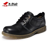 Z SUO British Big Head Men S Leather Shoes 100 Full Grain Leather Upper Cow Muscle