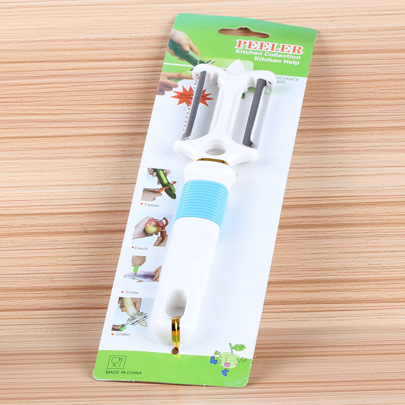 Creative stainless steel kitchen gadget head multi fruit peeler peeling device