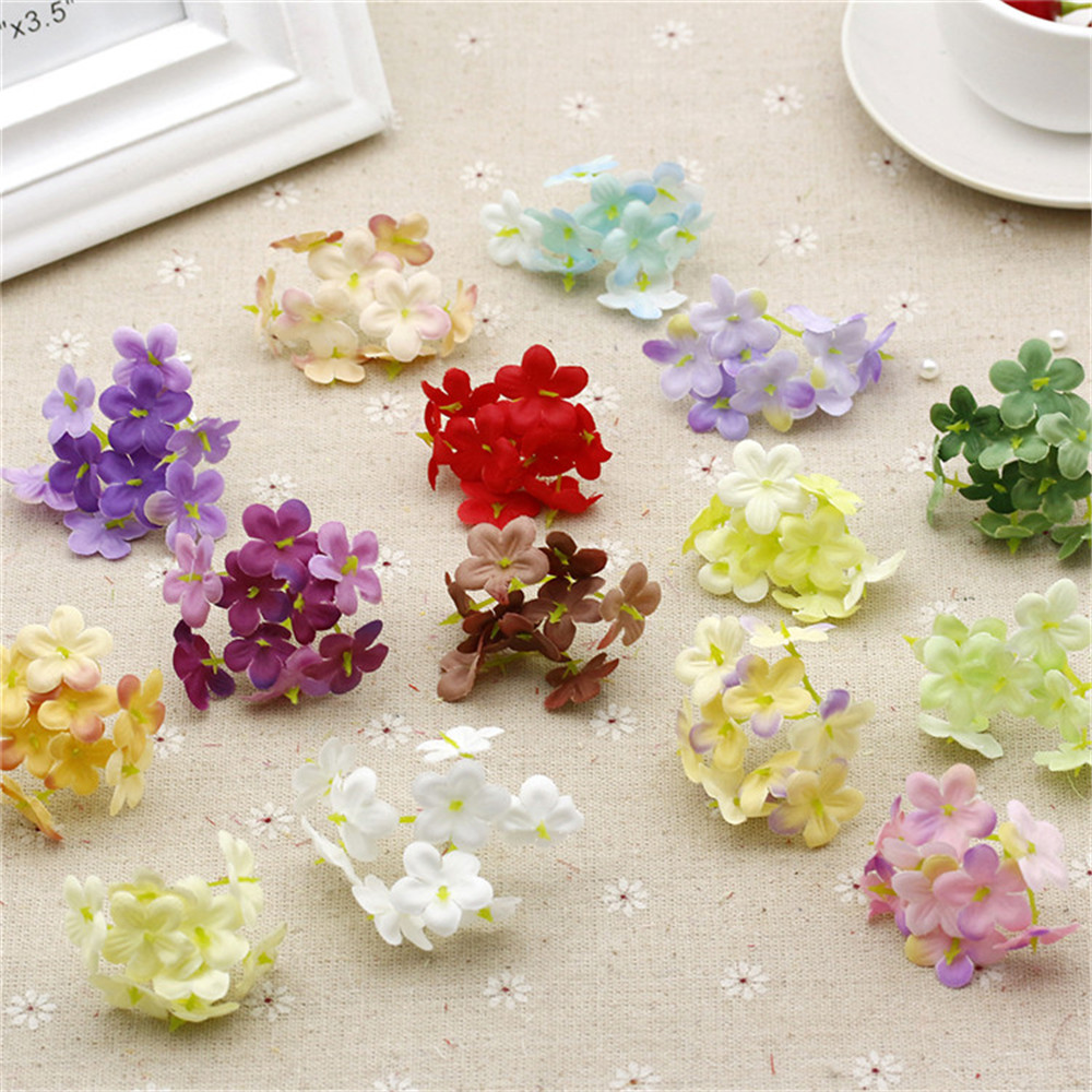 10PCS 2CM artificial silk simulation small bouquet home wedding party cut and paste decorative fake flowers