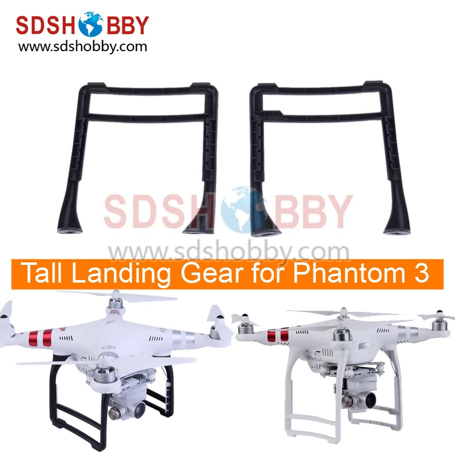 DJI Phantom 3 Accessory High Extended Tall Landing Gear Skid Stabilizers for Phantom 3 Professional Advanced Standard