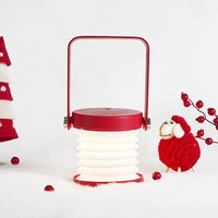Wooden handle portable lantern light retractable folding led desk lamp charging usb night light reading lamp