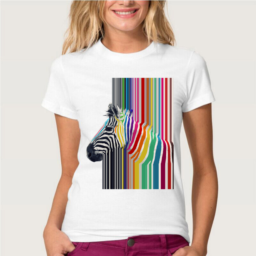 2019 Summer Women T Shirt 50 Fabulous Ladies 50th Birthday: 2019 Newest Summer Fashion Women's T Shirt Rainbow Zebra