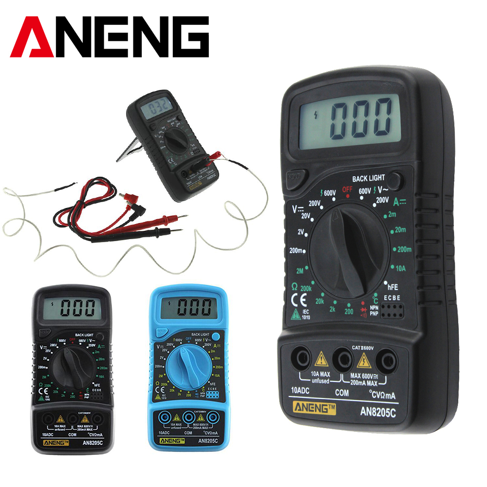 Aneng an8205c digital multimeter portable multi meter acdc aneng an8205c digital multimeter portable multi meter acdc voltage meter dc ammeter resistance temperature tester in multimeters from tools on biocorpaavc