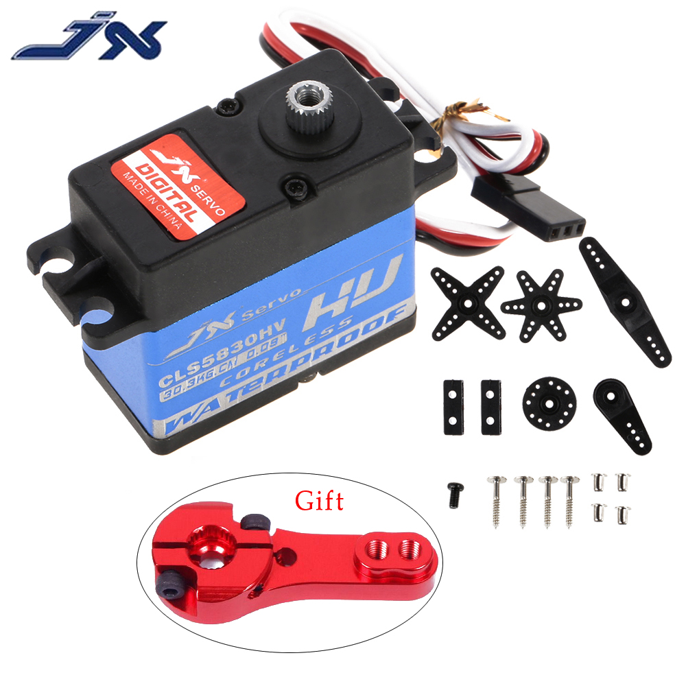 JX CLS5830HV 30KG Full waterproof 8.4V coreless 0.09 sec servo for 1/10 RedCat HPI Baja 5B SS 1/8 RC car Crawler buggy