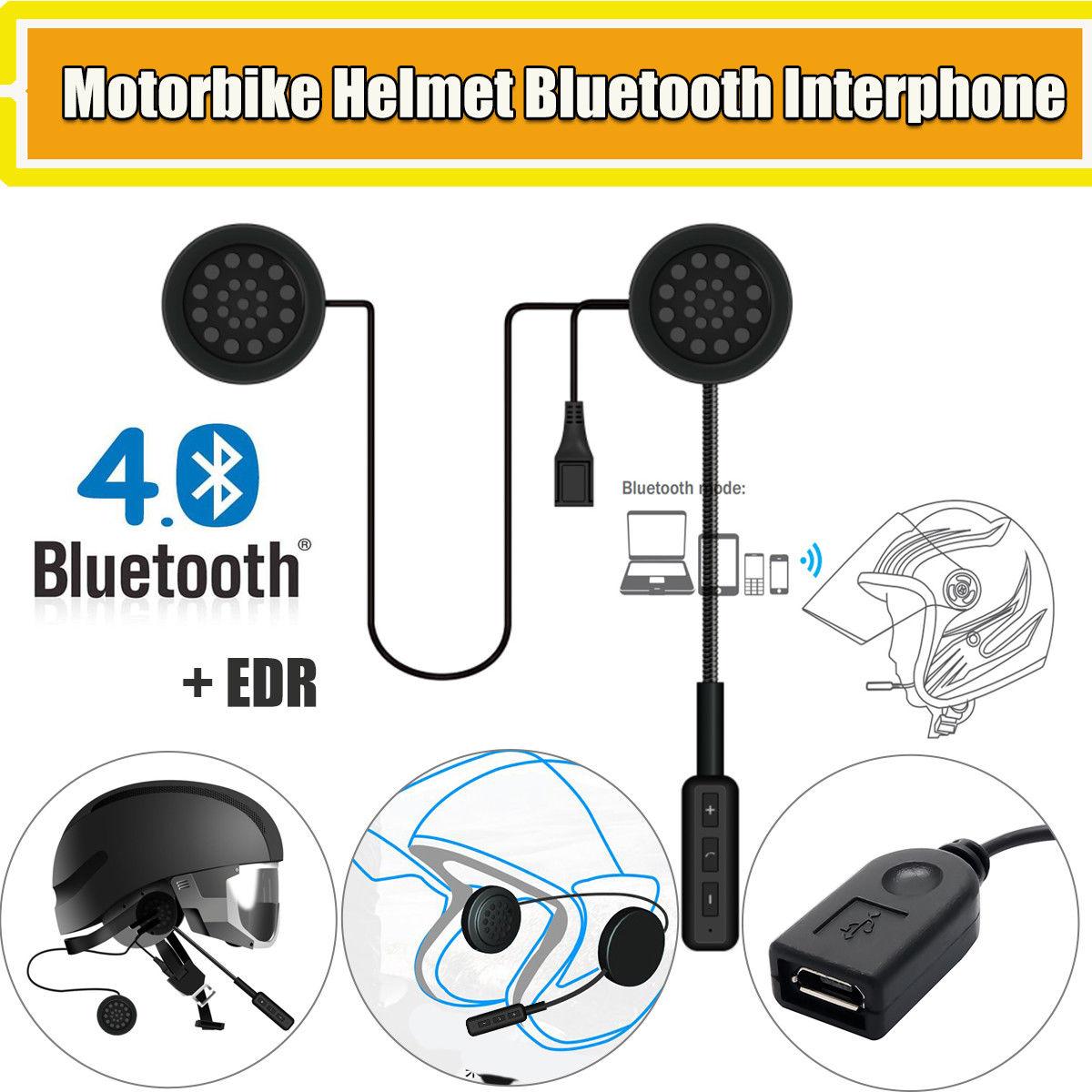 Motorcycle Helmet Handsfree Bluetooth Helmet Interphone Intercom Motorcycle Speakers Headset Music