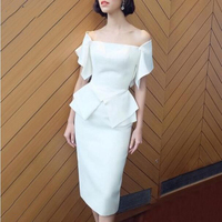 Elegant Women's Sheath Short Mother Dresses Gorgeous Prom Party Wear Dresses Mother of The Bride Gowns Plus Size Custom Made