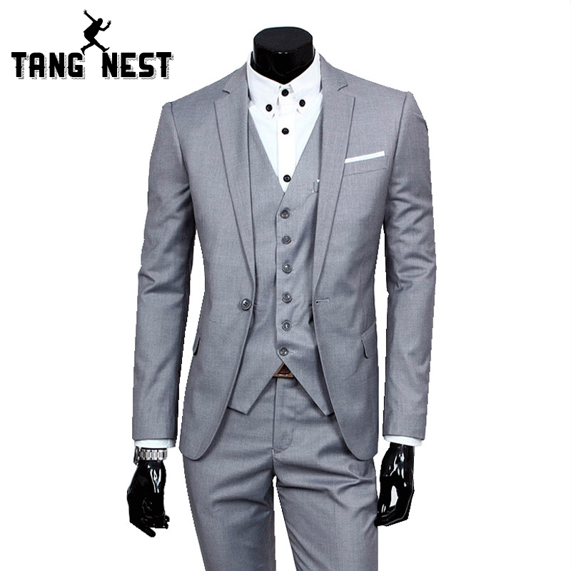 Aliexpress.com : Buy 2017 Business Casual Suit Men Two Pieces Set ...