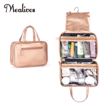 Toiletry-Organizer Travel Cosmetic Hanging Mealivos Versatile Rose-Gold Bag-Perfect Large
