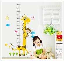 Kids Height Chart Wall Sticker home Decor Cartoon Giraffe Height Ruler Home Decoration room Decals Wall Art Sticker wallpaper height chart wall sticker