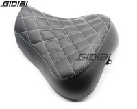 Motorcycle Black Low Profile Checker Stitch Solo Seat For Harley Sportster 1200 XLH1200 1988 2003 Sportster 883 XLH883 1986 2003