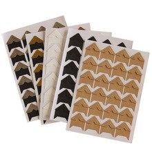 DIY pegatinas de Papel Kraft de esquina Vintage 24 unids/lote para proteger álbumes de fotos de boda álbum de recortes para decoración de Marcos