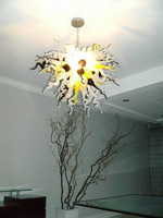 Free Shipping Christmas Party Deco Murano Glass Chandelier Ornament With LED Bulbs
