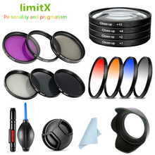 UV CPL ND FLD Graduated Colour Close Up Filter Kit & Lens Hood Cap for Fujifilm X T3 X T4 XT3 XT4 with Fujinon XF 16 80mm Lens
