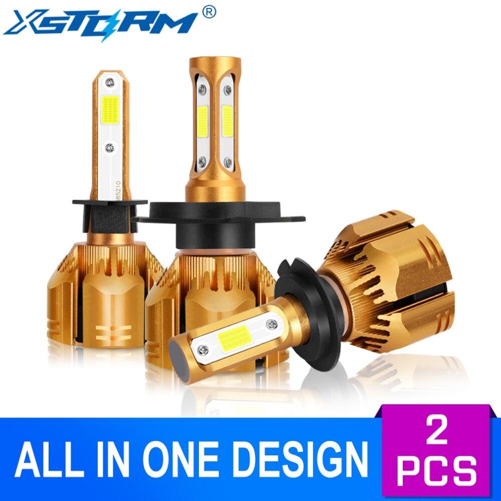 Xstorm Car Headlight H7 Led H1 H3 H4 H8 H11 Led Bulbs HB4 HB3 H13 9004 9007 9012 COB 60W 9000LM 6000K White Auto Lights Headlamp