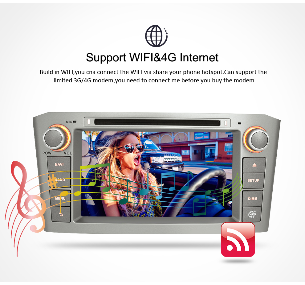 Image 4 - Android 9.0 9.1 Car Stereo For Toyota Avensis/T25 2003 2008 Car DVD Player 2 Din  PC Head 4G RAM Multimedia Video GPS Navigation-in Car Multimedia Player from Automobiles & Motorcycles