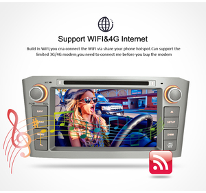 Image 3 - Android10.0 9.0 Car Stereo For Toyota Avensis/T25 2003 2008 Car DVD Player 2 Din  PC Head 4G RAM Multimedia Video GPS Navigation