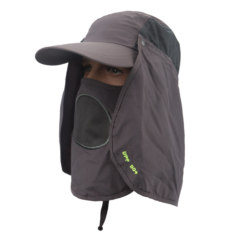 Mounchain Sun hat UV 50 Protection Outdoor Flap Cap with Removable Sun Shield and Mask for Fishing Hiking Garden Sun Shield Mask in Fishing Caps from Sports Entertainment