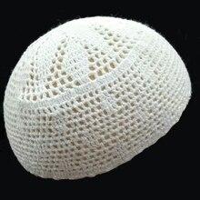 Muslim Hat Skull-Cap Mesh Islam Jewish Arabic Nationality Cotton Knit Hijab Crochet Hui