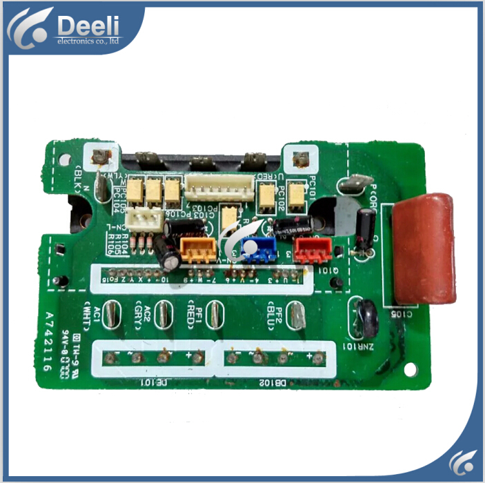 air conditioning frequency conversion module A742116 = A712033 used board good working 7 units ipm frequency conversion velocity modulation module mubw25 12a7 25a1200v