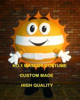 cute goden happy sun mascot costume adult size customizable cartoon warm sunshine theme advertising fancy dress costumes 2454